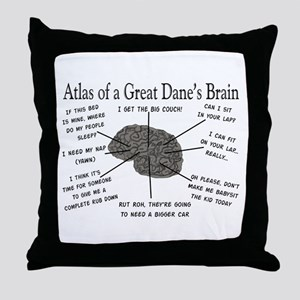 Atlas of a great danes brain Throw Pillow