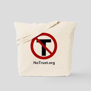 NoTrust Logo & Site Tote Bag