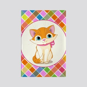 PRETTY KITTY Rectangle Magnet