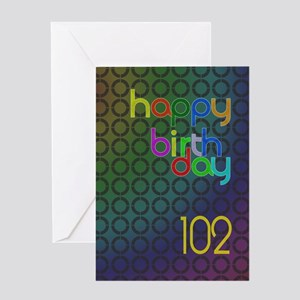 102nd Birthday card for a man Greeting Card
