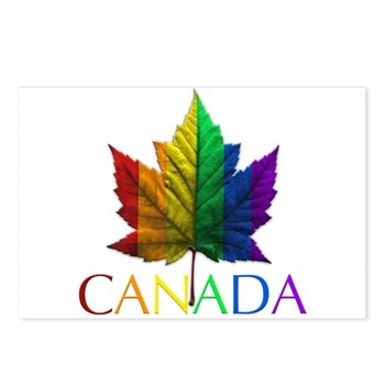 Gay Pride Canada Gifts Postcards (Pack of 8)