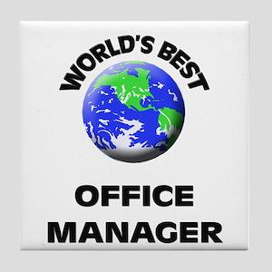World's Best Office Manager Tile Coaster