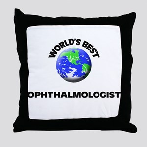 World's Best Ophthalmologist Throw Pillow