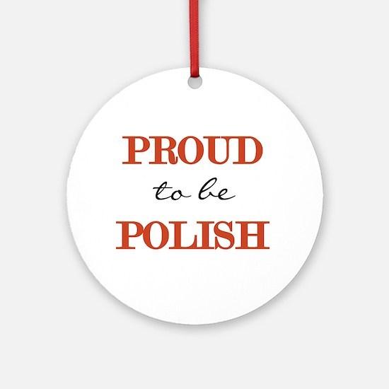 Polish Pride Ornament (Round)