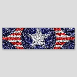 Van Gogh's Bonnie Blue Flag Sticker (Bumper)