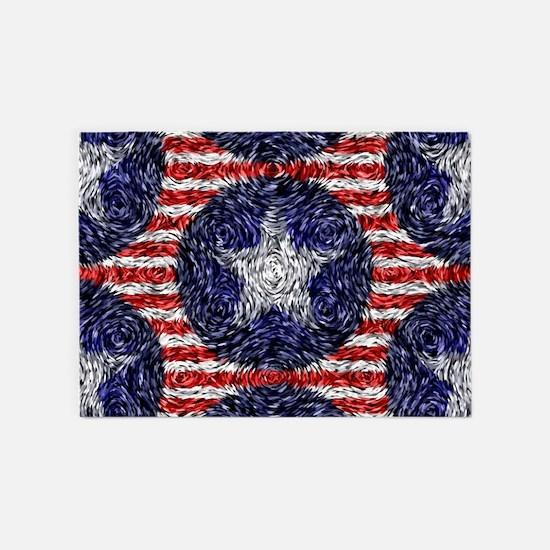 Van Gogh's Bonnie Blue Flag 5'x7'Area Rug
