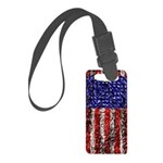 Van Gogh's Flag of the US Small Luggage Tag