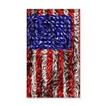 Van Gogh's Flag of the US 35x21 Wall Decal