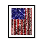 Van Gogh's Flag of the US Framed Panel Print