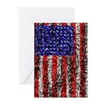 Van Gogh's Flag of the US Greeting Cards (Pk of 10