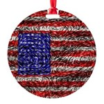 Van Gogh's Flag of the US Round Ornament