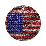 Van Gogh's Flag of the US Ornament (Round)
