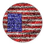 Van Gogh's Flag of the US Round Car Magnet