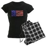 Van Gogh's Flag of the US Women's Dark Pajamas