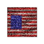 Van Gogh's Flag of the US Square Sticker 3