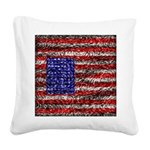 Van Gogh's Flag of the US Square Canvas Pillow