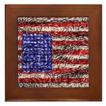 Van Gogh's Flag of the US Framed Tile