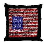 Van Gogh's Flag of the US Throw Pillow
