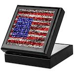 Van Gogh's Flag of the US Keepsake Box