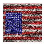 Van Gogh's Flag of the US Tile Coaster