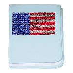 Van Gogh's Flag of the US baby blanket