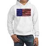 Van Gogh's Flag of the US Hooded Sweatshirt