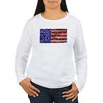 Van Gogh's Flag of the US Women's Long Sleeve T-Sh