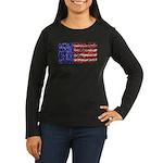 Van Gogh's Flag of the US Women's Long Sleeve Dark