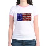 Van Gogh's Flag of the US Jr. Ringer T-Shirt