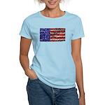 Van Gogh's Flag of the US Women's Light T-Shirt