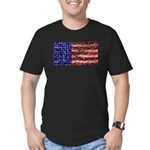 Van Gogh's Flag of the US Men's Fitted T-Shirt (da
