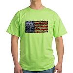Van Gogh's Flag of the US Green T-Shirt