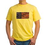 Van Gogh's Flag of the US Yellow T-Shirt