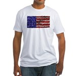 Van Gogh's Flag of the US Fitted T-Shirt