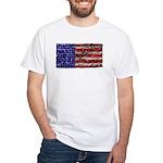 Van Gogh's Flag of the US White T-Shirt