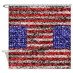 Van Gogh's Flag of the US Shower Curtain