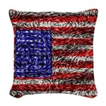 Van Gogh's Flag of the US Woven Throw Pillow