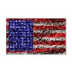 Van Gogh's Flag of the US Rectangle Car Magnet