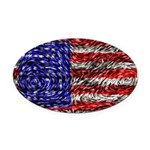 Van Gogh's Flag of the US Oval Car Magnet