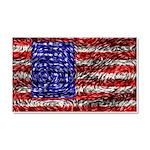 Van Gogh's Flag of the US Car Magnet 20 x 12