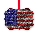 Van Gogh's Flag of the US Picture Ornament