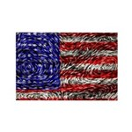 Van Gogh's Flag of the US Rectangle Magnet
