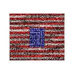 Van Gogh's Flag of the US Throw Blanket