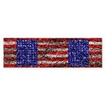Van Gogh's Flag of the US Sticker (Bumper 10 pk)