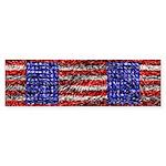 Van Gogh's Flag of the US Sticker (Bumper)