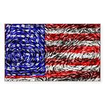 Van Gogh's Flag of the US Sticker (Rectangle 50 pk