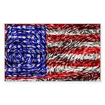 Van Gogh's Flag of the US Sticker (Rectangle 10 pk