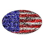 Van Gogh's Flag of the US Sticker (Oval 50 pk)