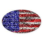 Van Gogh's Flag of the US Sticker (Oval 10 pk)