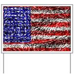 Van Gogh's Flag of the US Yard Sign